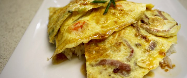 5-33: Omelette Stacks with Rice