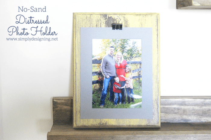 Distressed Photo Holder