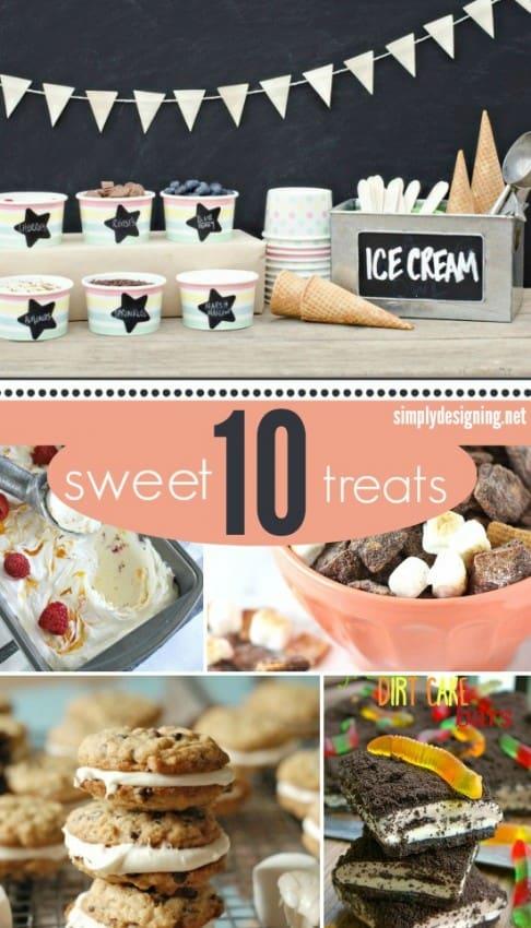 10 Sweet Treats #recipes #desserts