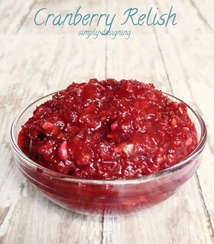 Cranberry Relish   a fresh twist on traditional cranberry sauce, perfect all year long