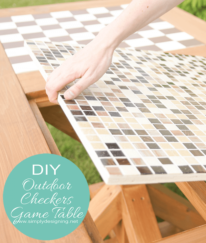 Flippable Checker Game and Dining Table