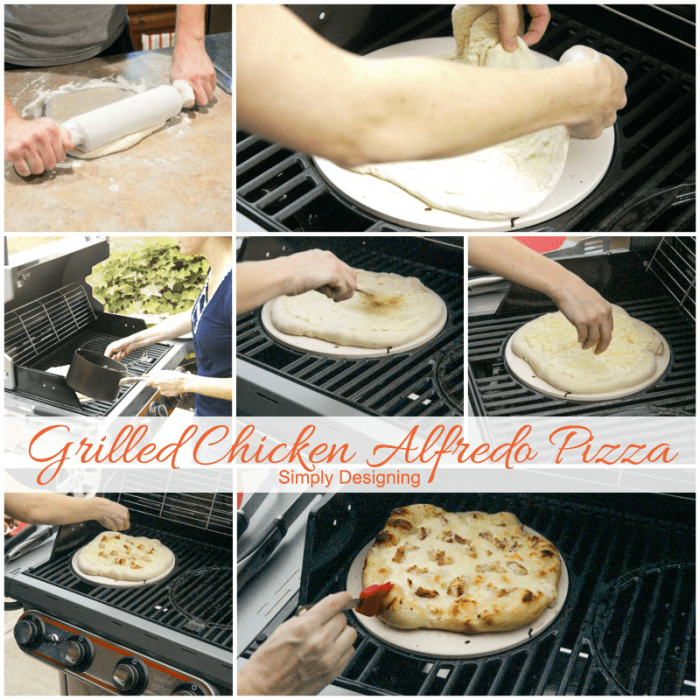 how to make a grilled chicken alfredo pizza