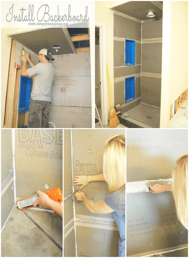 Master Bathroom Remodel: Part 5 { Tile a Shower }