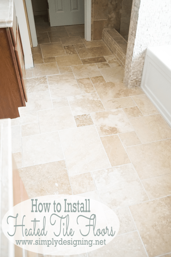 DIY Heated Tile Floors