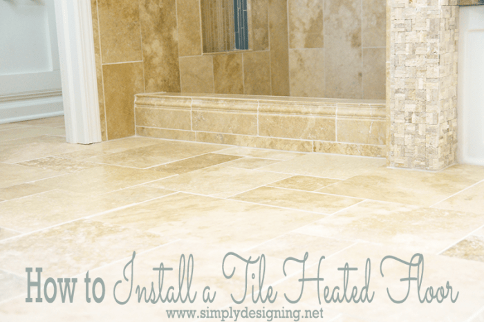Master Bathroom Remodel Part 7 How To Install Radiant Heated Tile Floors