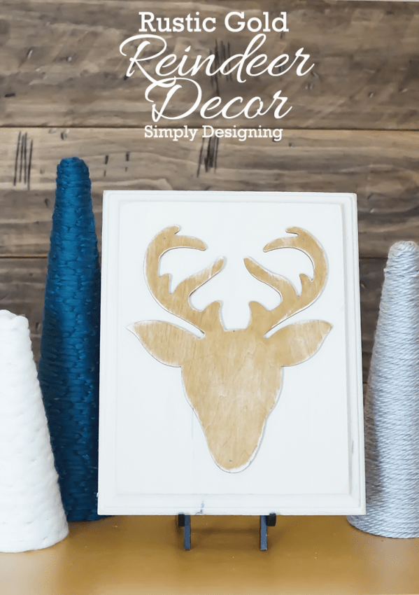 Rustic Gold Reindeer Decor