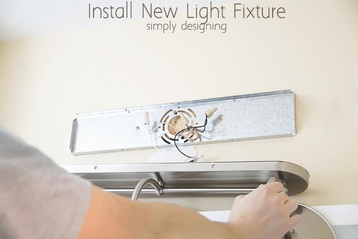 Install a New Bathroom Light Fixture - How To Change Bathroom Light Fixture