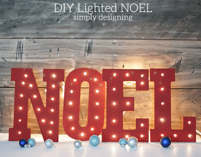 Lighted NOEL