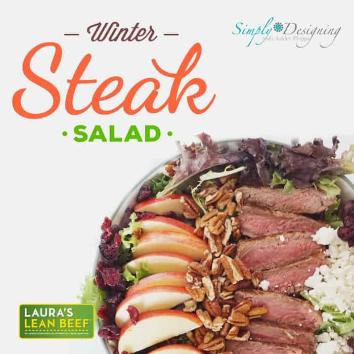 Winter Steak Salad   and simple and delicious meal or side salad