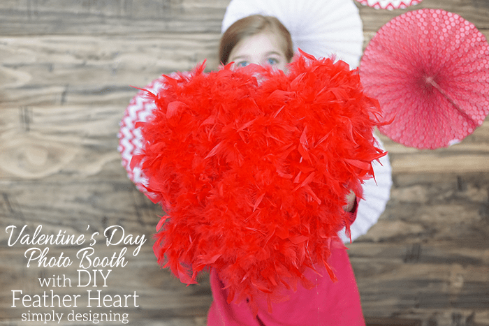 DIY Feather Heart