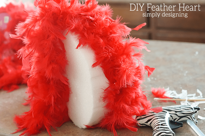 Make a DIY Feather Heart Photo Prop