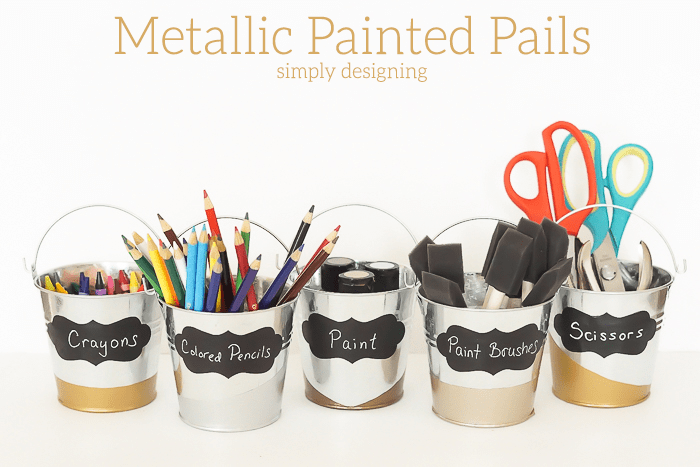 Metallic Painted Pails