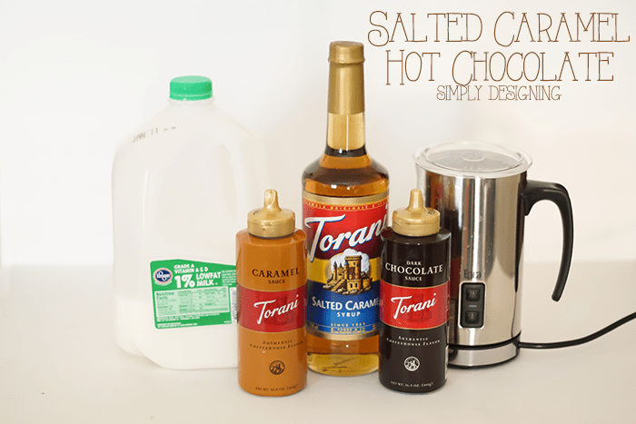 Salted Caramel Hot Chocolate Ingredients