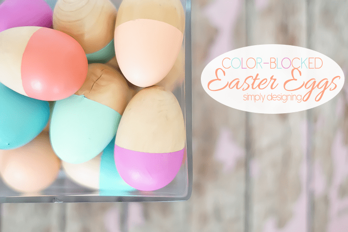 Color-Blocked Easter Eggs