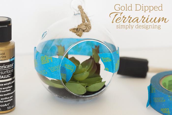DIY Gold Terrarium