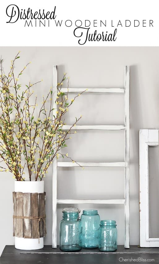 Distressed-Mini-Wooden-Ladder-Tutorial