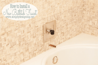 Master Bathroom Remodel: Part 10 { How to Install a ...