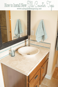 Master Bathroom Remodel: Part 8 { How to Install New Tile ...