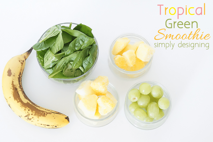 Tropical Green Smoothie Ingredients