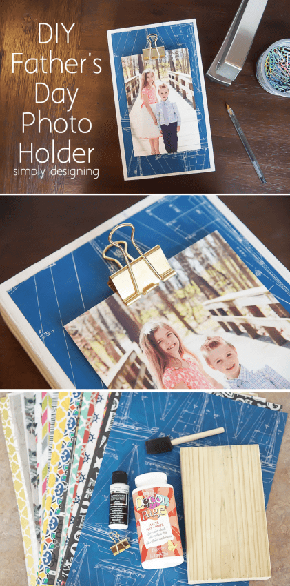 DIY Fathers Day Photo Holder