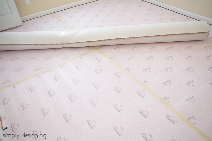 Install new carpet pad
