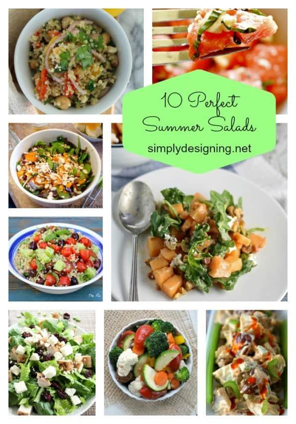 summer salads pinnable