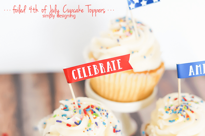 4th of July Cupcake Toppers