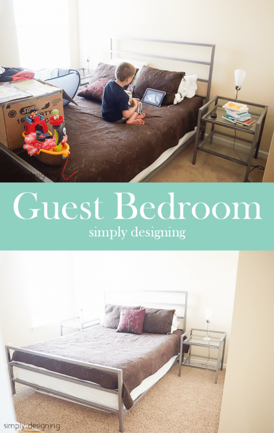 New Carpet - before & after - Guest Bedroom