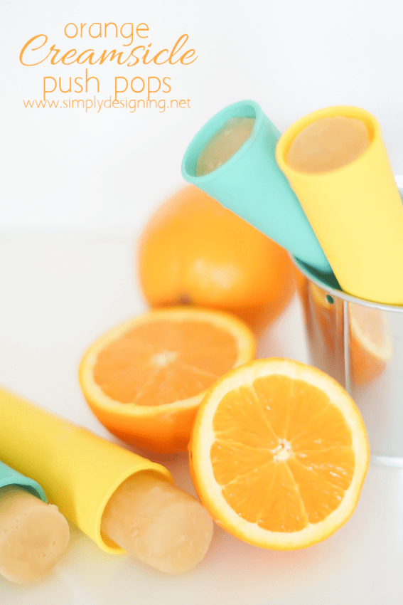 Homemade Orange Creamsicle Popsicles - such a fun and delicious treat and so easy to make