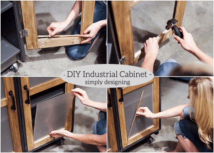 Industrial Cabinet - add faux glass inserts