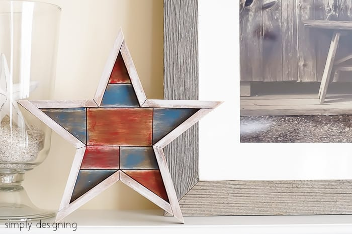 Whitewashed Barn Star - perfect 4th of July decor