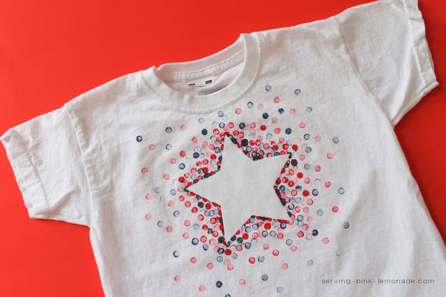star shirt eraser painting