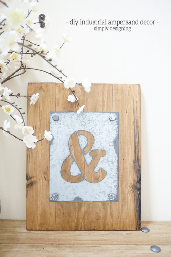 DIY Industrial Ampersand Decor - I love how simple yet striking this is - such beautiful diy industrial decor