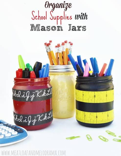 Organize-school-supplies-with-mason-jars