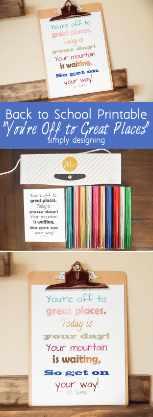 Back to School Printable _ Youre Off to Great Places