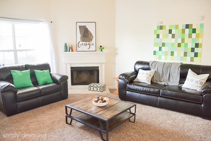 Living Room Reveal  Decorating a Habitat for Humanity