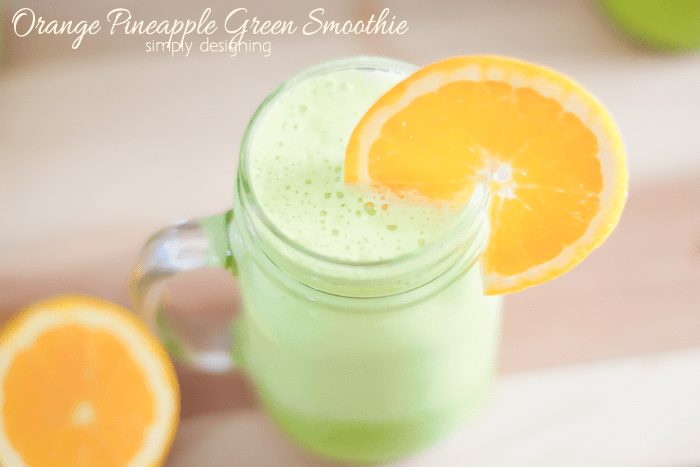 Orange Pineapple Green Smoothie Recipe