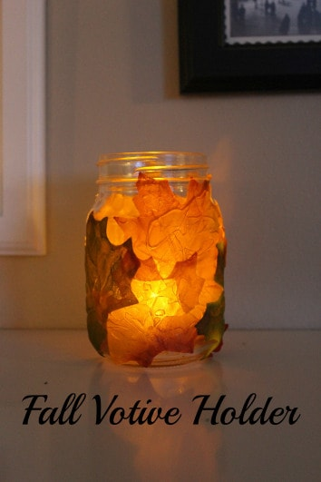 fall votive holder