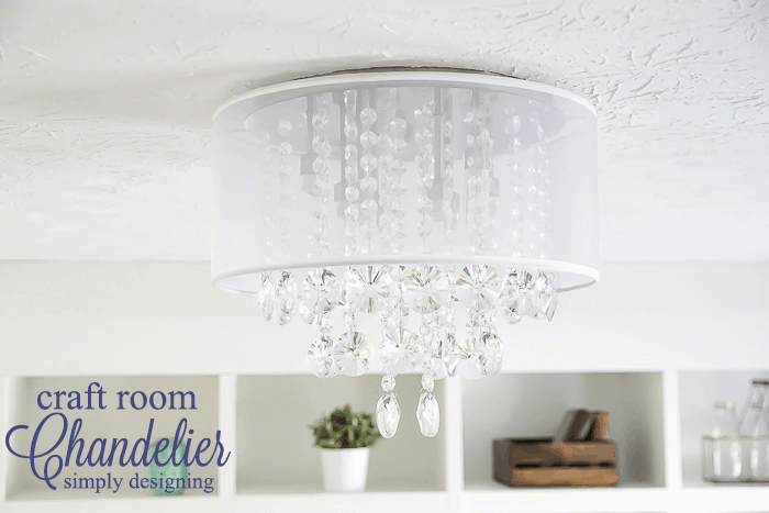 Craft Room Chandelier -an elegant new light fixture