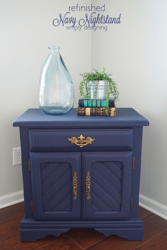 DIY Navy Nightstand