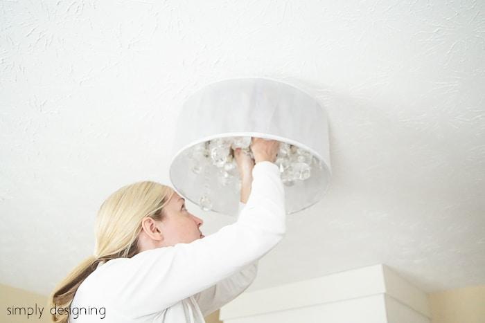 install chandelier