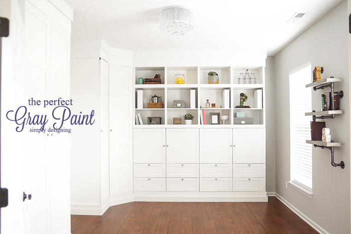 Craft room the perfect gray paint part 6 for Craft room paint colors