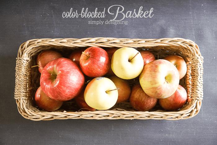 Color Blocked Basket for fruit
