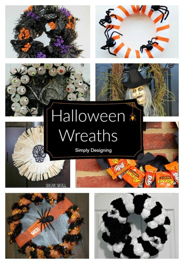 Halloween Wreath Pinnable Collage