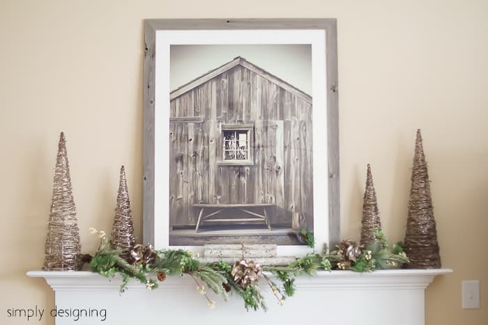 Natural Glam Christmas Mantel