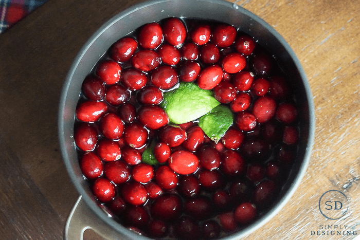 Cranberries and Lime