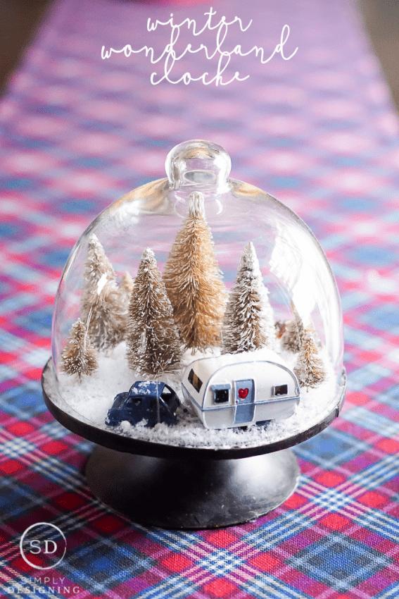 DIY Winter Wonderland Cloche