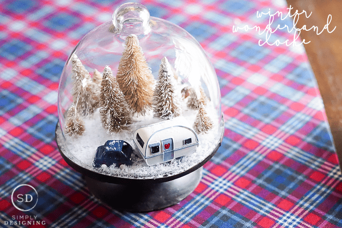 Winter Wonderland Cloche - such a fun and simple craft to make this winter
