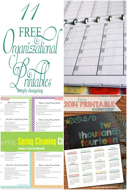 11 Organizational Printables Collage