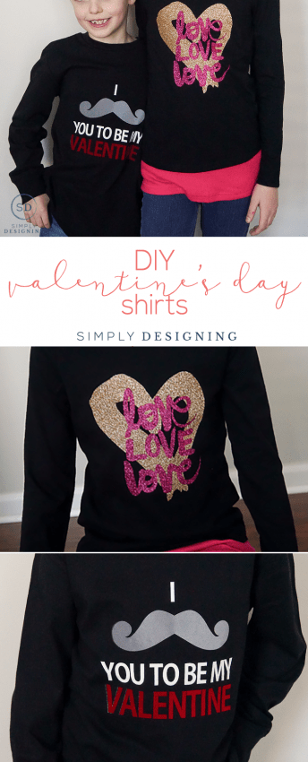 DIY Valentines Day Shirts - make your own Vday shirts with this complete tutorial